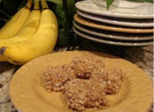 Crunchy Peanut Butter Banana Bites