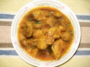 Chicken And Mushroom Curry (East Indian)