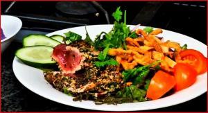 Furikake Encrusted Ahi Salad