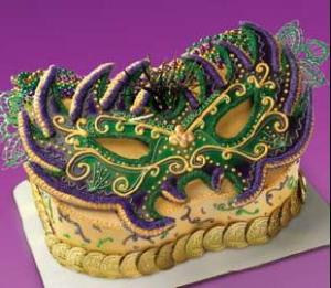Mardi Gras theme cake ideas