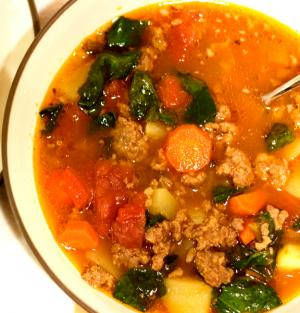 Swanson Sausage And Spinach Soup