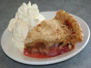 Classic Double Crust Rhubarb Pie
