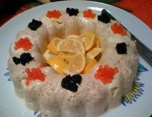 Salmon Mousse With Gelatin