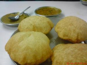 Fried Indian Whole Wheat Flour Bread