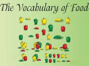 vocabulary-of-food