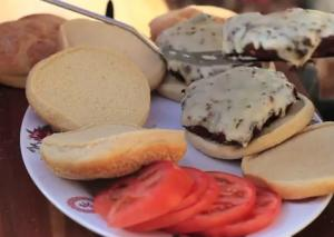 Game Elk And Chipotle Burgers