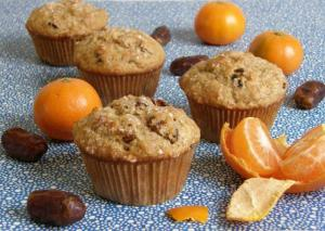 Frosty Date Muffins