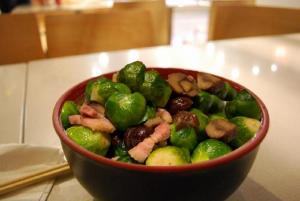 Brussels Sprouts With Buttered Chestnuts