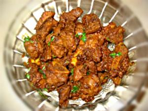 Spicy Pepper Mutton Fry
