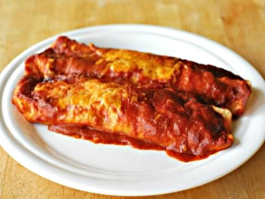 Healthy Roasted Eggplant Enchiladas