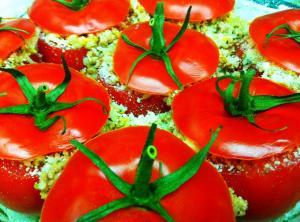 Minted Rice Stuffed Tomatoes