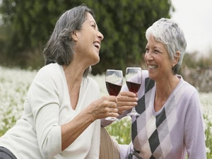 old women age better with wine