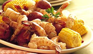 Sweet Corn Potato Boil with Shrimp