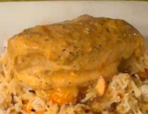 Curried Chicken Breast with Basmati Pilaf