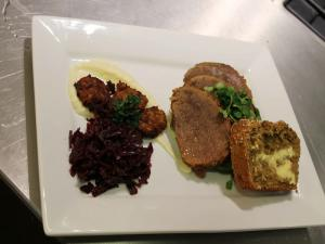 Corned Beef & Red Cabbage with Brown Bread By Good Food Ireland