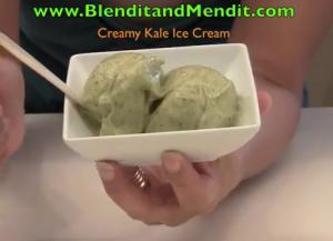 Kale and Banana Vegan Ice Cream
