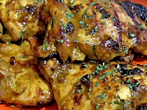 Honey Curry Chicken Thighs - Easy Weekday Dinner Idea