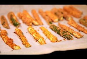 Baked Crisp Zucchini Sticks