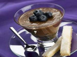 Blueberry Chocolate Mousse