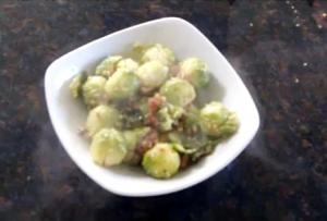 Brussel Sprouts with Parma and Sesame