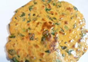Indian Palak Tofu Paratha