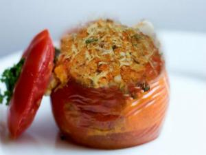 Baked Stuffed Tomatoes With Marjoram