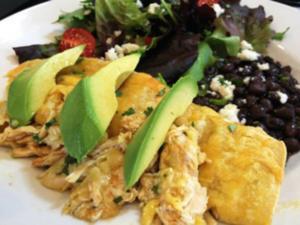 Chicken Enchiladas - Salsa Verde Style