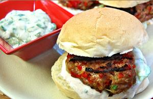 Mini Turkey Sweet Pepper Burgers