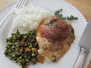 Roasted Herb Chicken with Pistachio Salsa