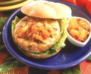 Caribbean Turkey Burgers