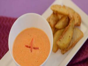 Roasted Bell Pepper Dip by Tarla Dalal