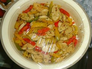 Sausages and Bell Pepper Salad