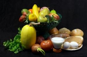 Eating a balanced diet is important with a variety of foods