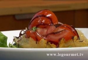 Chardonnay Tomato Basil Salad on Parmigiana Cheese Bowl