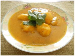 Low Sodium Butter Squash Soup with Chicken Meatballs and Dumplings