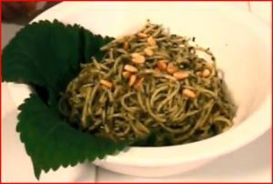 Pasta with Korean Kkaenip (Perilla) Pesto