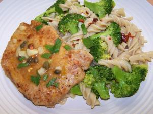 Pork Piccata with Lemon Broccoli Pasta