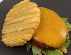 French fries burger
