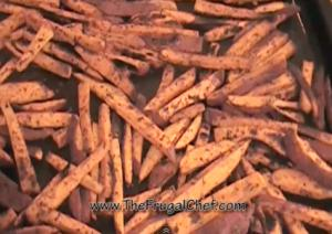 Sweet Potato Fries in Cajun Style