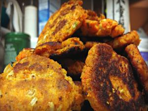 Sweet Potato And Cream Corn Fritters