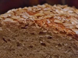 PeffbleTop Oatmeal Bread