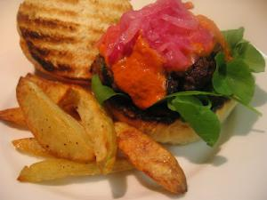 Lamb Burgers with Oven Roasted Tomatoes