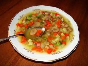 CREAM OF MUSHROOM AND VEGETABLE SOUP