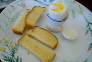 Solar Cooked Eggs and Soldiers