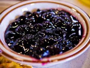 Microwave Cooked Blueberry Jam