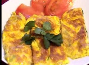 Thai Egg And Shrimps Omelet