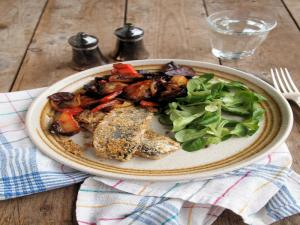 Herring with Oatmeal and Almonds