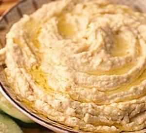 Roasted Garlic and Tahini Hummus
