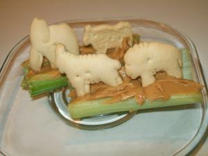 Two Kids Cooking TV: Animals on a Log from Birthday in a Box!
