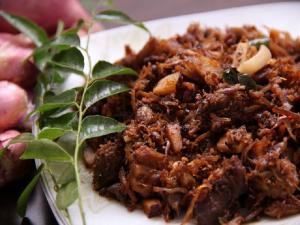 Reduced Calorie Stir Fried Beef- Beef Ularthiyathu